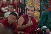 Досточтимый Лобсанг Гонпо комментирует доклады во время второй сессии международного симпозиума «Эмори–Тибет». Мундгод, штат Карнатака, Индия. 18 декабря 2016 г. Фото: Тензин Чойджор (офис ЕСДЛ)