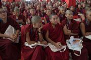 Некоторые из 260 монахинь, пристутвующих на международном симпозиуме «Эмори–Тибет». Мундгод, штат Карнатака, Индия. 18 декабря 2016 г. Фото: Тензин Чойджор (офис ЕСДЛ)