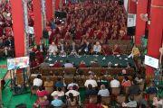 Вид на зал, в котором послушать доклады на международном симпозиуме «Эмори–Тибет» собрались около 3000 человек. Мундгод, штат Карнатака, Индия. 19 декабря 2016 г. Фото: Тензин Чойджор (офис ЕСДЛ)