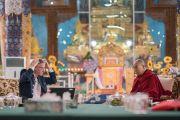 Кристоф Кох делает доклад о природе ума в завершающий день конференции «Эмори–Тибет». Мундгод, штат Карнатака, Индия. 20 декабря 2016 г. Фото: Тензин Чойджор (офис ЕСДЛ)