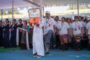 Парад выпускников Центральной тибетской школы в честь ее 50-летия. Мундгод, штат Карнатака, Индия. 22 декабря 2016 г. Фото: Тензин Чойджор (офис ЕСДЛ)