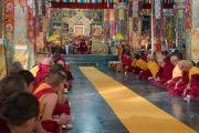 Торжественная церемония в честь прибытия Его Святейшества Далай-ламы в монастырь Ганден Лачи. Мундгод, штат Карнатака, Индия. 22 декабря 2016 г. Фото: Тензин Чойджор (офис ЕСДЛ)