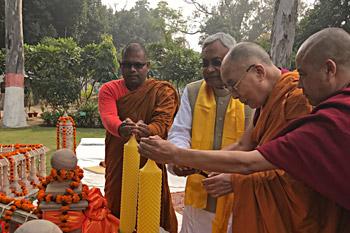 Далай-лама посетил парк «Будда Смрити» в Патне