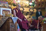 Его Святейшество Далай-лама в монастыре Палъюл Тхуптен Чойкхор Даргьелинг. Бодхгая, штат Бихар, Индия. 31 декабря 2016 г. Фото: Тензин Чойджор (офис ЕСДЛ)