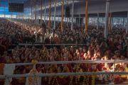 Вид на площадку учений, на которой собралось более чем 200,000 верующих, прибывших на 34-е посвящение Калачакры. Бодхгая, штат Бихар, Индия. 13 января 2017 г. Фото: Тензин Чойджор (офис ЕСДЛ)