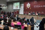 Его Святейшество Далай-лама читает лекцию о силе сострадания по просьбе представительниц женского крыла Федерации индийских торгово-промышленных палат. Нью-Дели, Индия. 21 января 2017 г. Фото: Тензин Чойджор (офис ЕСДЛ)