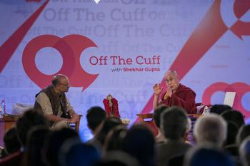 Далай-лама прочел лекцию о сострадании и нравственности по просьбе Общества сохранения традиционного индийского наследия