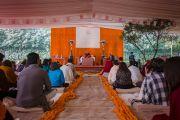 Его Святейшество Далай-лама дарует учения по просьбе фонда «Видьялока». Нью-Дели, Индия. 3 февраля 2017 г. Фото: Тензин Чойджор (офис ЕСДЛ)