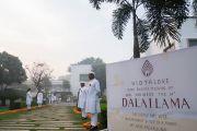 Вид на место учений, даруемых Его Святейшеством Далай-ламой по просьбе фонда «Видьялока», выступающего за сохранение культурно-философского наследия Индии. Нью-Дели, Индия. 3 февраля 2017 г. Фото: Тензин Чойджор (офис ЕСДЛ)