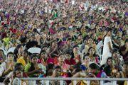 Некоторые из более 10,000 участников, собравшихся на торжественное открытие Национального женского парламента. Амаравати, штат Андра-Прадеш, Индия. 10 февраля 2017 г. Фото: Тензин Чойджор (офис ЕСДЛ)