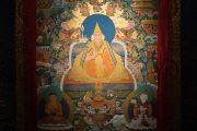 Традиционная тибетская танка с изображением Далай-ламы XIV, созданная художниками института Норбулинка. Дхарамсала, Индия. 9 марта 2017 г. Фото: Тензин Чойджор (офис ЕСДЛ)