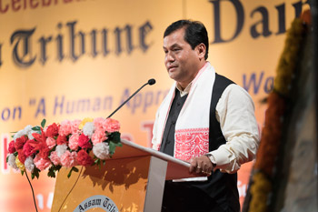 В Гувахати Далай-лама принял участие в праздновании 79-летия со дня основания газеты «Ассам Трибьюн»