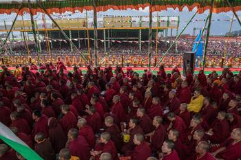На учения Далай-ламы в Таванге собралось 50 тысяч человек