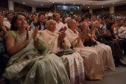 Слушатели во время празднования платинового юбилея газеты The Assam Tribune, прошедшего в центре исполнительских искусств Индийской телевизионной академии (ИТА). Гувахати, штат Ассам, Индия. 1 апреля 2017 г. Фото: Тензин Чойджор (офис ЕСДЛ)