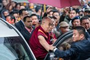 Его Святейшество Далай-лама прибывает в монастырь Тхубчок Гацел Линг. Бомдила, штат Аруначал-Прадеш, Индия. 4 апреля 2017 г. Фото: Тензин Чойджор (офис ЕСДЛ)