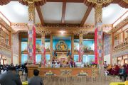 Его Святейшество Далай-лама принимает участие в церемонии открытия нового храма в монастыре Тхупсунг Дхаргьелинг. Диранг, штат Аруначал-Прадеш, Индия. 6 апреля 2017 г. Фото: Тензин Чойджор (офис ЕСДЛ)