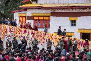 Его Святейшество Далай-лама по завершении визита в Угьен Линг, место рождения Шестого Далай-ламы. Таванг, штат Аруначал-Прадеш, Индия. 9 апреля 2017 г. Фото: Тензин Чойджор (офис ЕСДЛ)