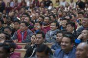 Некоторые из более чем 1,000 человек, собравшихся на публичную лекцию Его Святейшества Далай-ламы в конференц-центре Калавангпо. Таванг, штат Аруначал-Прадеш, Индия. 10 апреля 2017 г. Фото: Тензин Чойджор (офис ЕСДЛ)