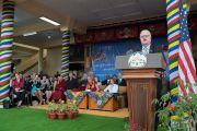 Джим Сенсенбреннер, член палаты представителей конгресса США, обращается к собравшимся во время встречи двухпартийной делегации конгресса США с местными жителями. Дхарамсала, Индия. 10 мая 2017 г. Фото: Тензин Чойджор (офис ЕСДЛ)