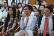 Слушатели во время первого дня двухдневной интерактивной встречи Его Святейшества Далай-ламы с буддистами из Вьетнама. Дхарамсала, Индия. 30 мая 2017 г. Фото: Тензин Чойджор (офис ЕСДЛ)