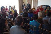Его Святейшество Далай-лама во время встречи с друзьями и меценатами Калифорнийского университета Сан-Диего. Сан-Диего, штат Калифорния, США. 16 июня 2017 г. Фото: Джереми Рассел (офис ЕСДЛ)
