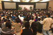 Его Святейшество Далай-лама дарует наставления тибетцам из местного тибетского сообщества. Сан-Диего, штат Калифорния, США. 18 июня 2017 г. Фото: Кунга Таши