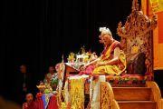 Его Святейшество Далай-лама дарует наставления тибетцам из местного тибетского сообщества. Миннеаполис, штат Миннесота, США. 24 июня 2017 г. Фото: Джереми Рассел (офис ЕСДЛ)