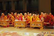 Тибетские монахи слушают наставления Его Святейшества Далай-ламы. Миннеаполис, штат Миннесота, США. 24 июня 2017 г. Фото: Тензин Пунцок Вальяг