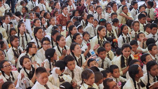 Далай-лама посетил Ладакскую публичную школу