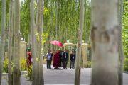 Его Святейшество Далай-лама возвращается в свою резиденцию в Шивацель по завершении торжеств, посвященных его 82-летию. Ле, Ладак, штат Джамму и Кашмир, Индия. 6 июля 2017 г. Фото: Тензин Чойджор (офис ЕСДЛ)