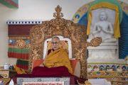 Его Святейшество Далай-лама во время церемонии подношения молебна о долгой жизни, организованной в Шивацель. Ле, Ладак, штат Джамму и Кашмир, Индия. 6 июля 2017 г. Фото: Тензин Чойджор (офис ЕСДЛ)