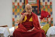 Его Святейшество Далай-лама дарует наставления 1600 учащимся Ладакской публичной школы. Ле, Ладак, штат Джамму и Кашмир, Индия. 8 июля 2017 г. Фото: Лобсанг Церинг (офис ЕСДЛ)