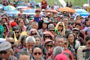 Некоторые из более чем 10,000 верующих во время первого дня учений Его Святейшества Далай-ламы. Падум, Занскар, штат Джамму и Кашмир, Индия. 17 июля 2017 г. Фото: Лобсанг Церинг (офис ЕСДЛ)