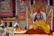 Его Святейшество Далай-лама дарует разрешение на практику Будды медицины. Падум, Занскар, штат Джамму и Кашмир, Индия. 18 июля 2017 г. Фото: Лобсанг Церинг (офис ЕСДЛ)