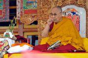 Его Святейшество Далай-лама дарует посвящение Авалокитешвары. Падум, Занскар, штат Джамму и Кашмир, Индия. 17 июля 2017 г. Фото: Лобсанг Церинг (офис ЕСДЛ)