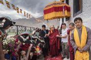 Его Святейшество Далай-лама прибывает в монастырь Матхо. Ле, Ладак, штат Джамму и Кашмир, Индия. 20 июля 2017 г. Фото: Тензин Чойджор (офис ЕСДЛ)
