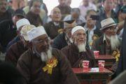 Представители местного мусульманского сообщества во время встречи с Его Святейшеством Далай-ламой в Ид-Гахе. Ле, Ладак, штат Джамму и Кашмир, Индия. 26 июля 2017 г. Фото: Тензин Чойджор (офис ЕСДЛ)