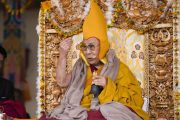 Его Святейшество Далай-лама дарует посвящение долгой жизни Белой Тары. Ле, Ладак, штат Джамму и Кашмир, Индия. 30 июля 2017 г. Фото: Тензин Чойджор (офис ЕСДЛ)