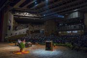 Вид на конференц-зал Сири Форт  во время лекции Его Святейшества Далай-ламы «Искусство быть счастливым». Нью-Дели, Индия. 10 августа 2017 г. Фото: Тензин Чойджор (офис ЕСДЛ)