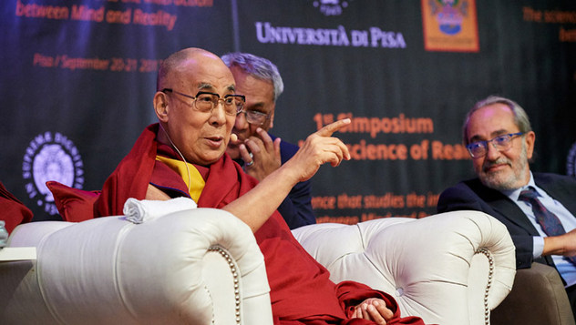 В Пизе Далай-лама прочел публичную лекцию на площади Рыцарей и принял участие в открытии симпозиума «Наука об уме – наука о реальности»