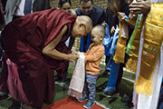 Первый день учений Далай-ламы в Риге
