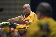 Второй день учений Далай-ламы в Риге