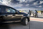 Кортеж Его Святейшества Далай-ламы направляется из аэропорта в отель. Франкфурт, Германия. 12 сентября 2017 г. Фото: Тензин Чойджор (офис ЕСДЛ)