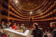 Вид на зал театра Массимо во время публичной лекции Его Святейшества Далай-ламы. Палермо, Сицилия, Италия. 18 сентября 2017 г. Фото: Паоло Регис
