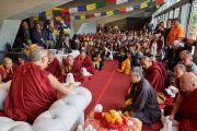 Его Святейшество Далай-лама встречается со 150 тибетцами. Флоренция, Италия. 19 сентября 2017 г. Фото: Olivier Adam.