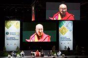 Его Святейшество Далай-лама выступает на межрелигиозном диалоге. Флоренция, Италия. 19 сентября 2017 г. Фото: Olivier Adam.