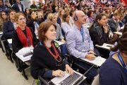 """В зале во время одного из докладов на первой сессии симпозиума """"Наука об уме - наука о реальности"""" в университете Пизы. Пиза, Италия. 20 сентября 2017 г. Фото: Olivier Adam."""