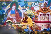 "Его Святейшество Далай-лама дарует учения для стран Балтии и России в зале ""Сконто"". Фото: Тензин Чойджор (офис ЕСДЛ)"