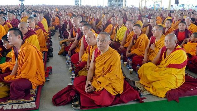 Встреча Далай-ламы с жителями Мундгода