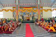 Далай-лама посетил женский монастырь Джангчуб Чолинг и прибыл в монастырь Ганден Лачи